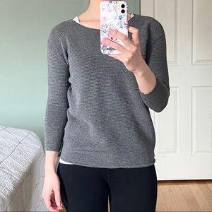 Silk and Cashmere Aritzia Wilfred Grey Sweater